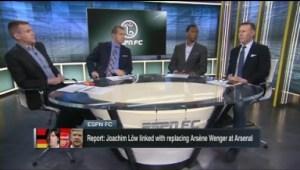 Video: ESPN FC Joachim Low To Replace Wenger? Tottenham Exit, Kane, Manchester City PSG Wenger